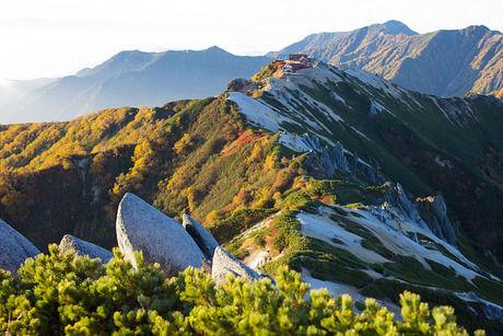 燕岳山頂付近の景色