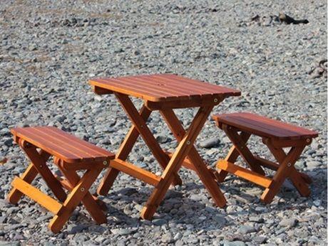 嵐山渓谷バーベキュー場のレンタルチェアとレンタルテーブル
