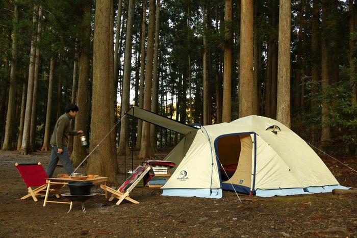 設営された3シーズン用テント