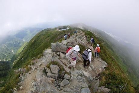 八方尾根の山頂付近の写真