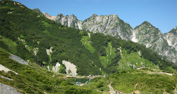 白馬八方尾根の山