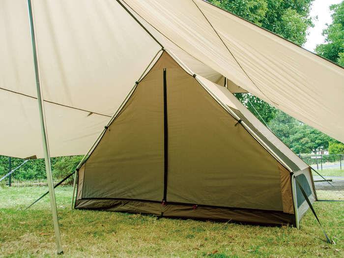 実際に設営したogawaの FA形キャンプテント