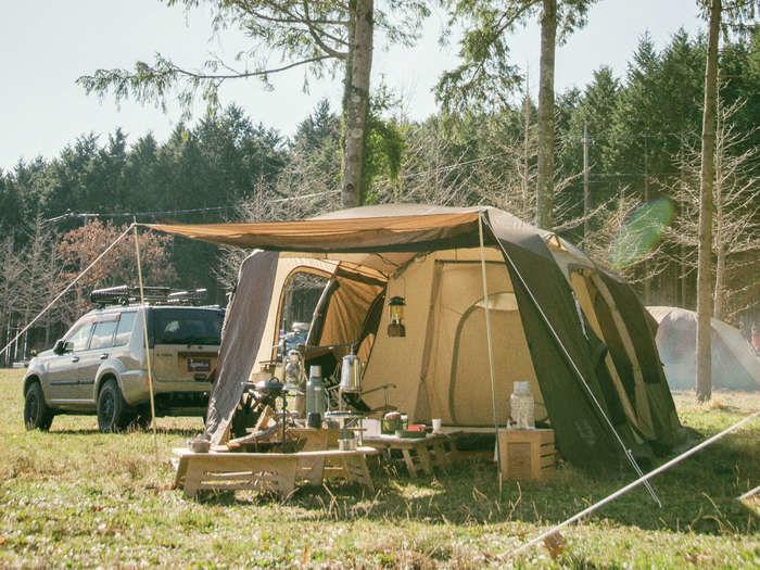 設営したogawaのテント