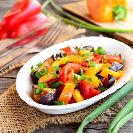 パプリカや茄子を使った秋野菜のマリネ
