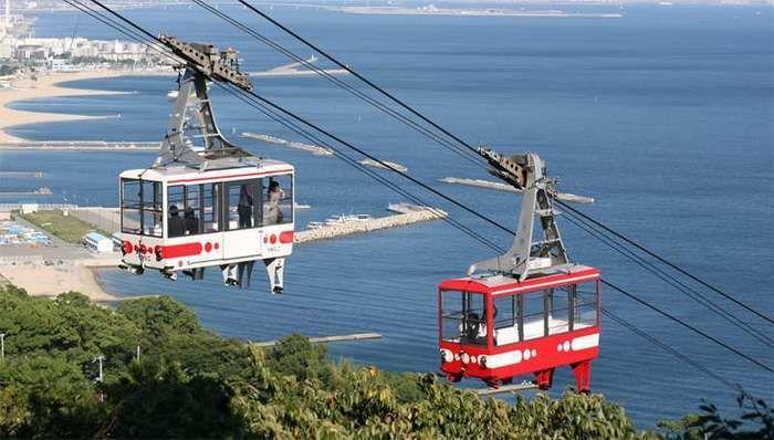 須磨浦山上遊園のロープウェイ