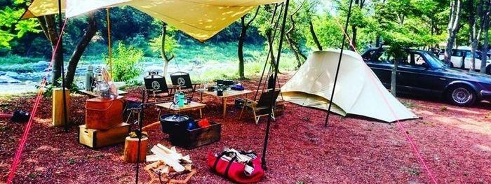長瀞オートキャンプ場でのキャンプの様子