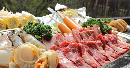 バーベキューで使う肉や野菜