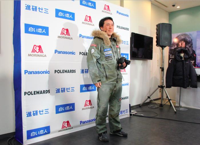 ポールワーズのアウトドアウェアを着用した荻田泰永さん