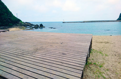 弁天浜キャンプ場のキャンプサイト