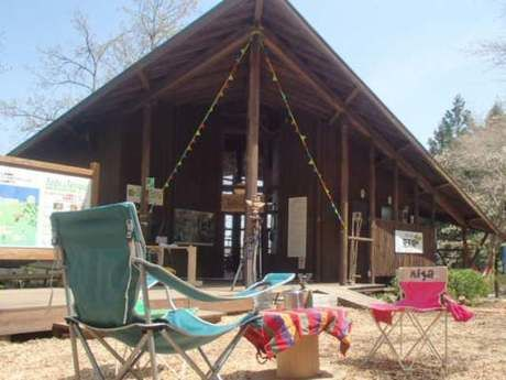 足柄森林公園のキャンプサイトと炊事場