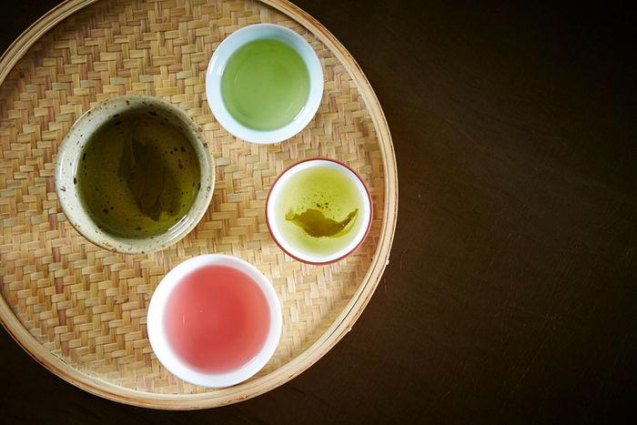 いろいろな種類のお茶
