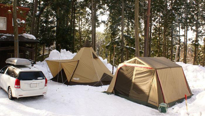 N.A.O.明野高原キャンプ場のウィンターキャンプ