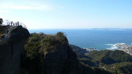 鋸山から見える海の眺め