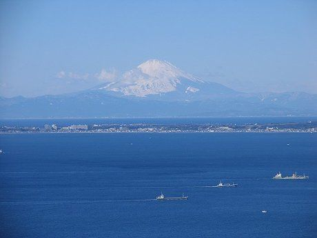鋸山から見える富士山