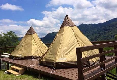 相模湖リゾートプレジャーフォレストの園内にあるキャンプ場