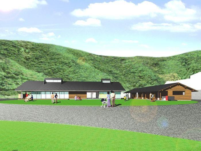スノーピークおち仁淀川キャンプフィールドに併設される直営店完成イメージ
