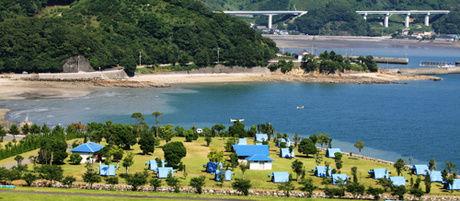 御立岬公園キャンプ場の全体像