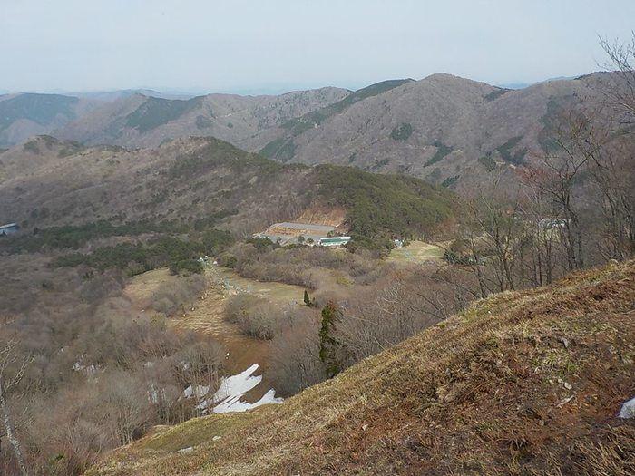 恐羅漢エコロジーキャンプ場の遠景
