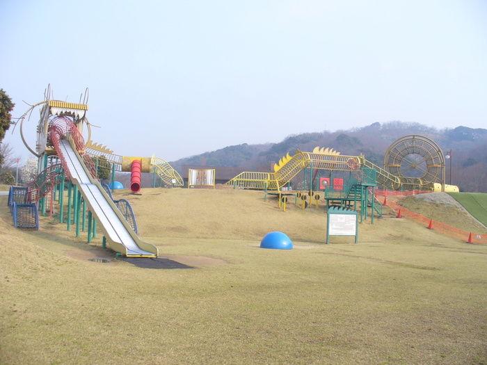竜王山公園オートキャンプ場 遊具のある広場