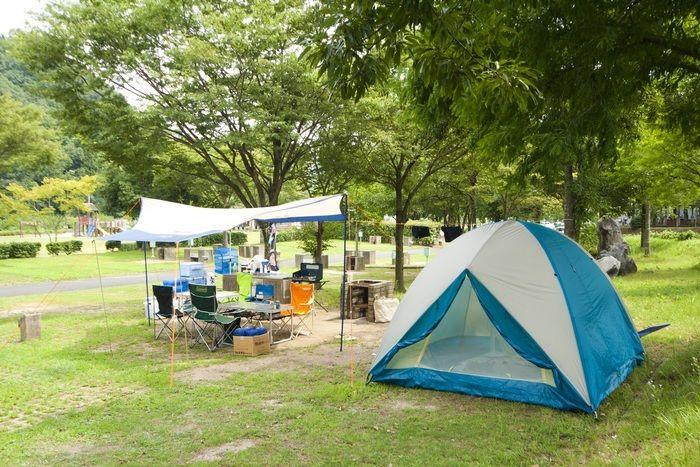 秋吉台リフレッシュパークのキャンプサイト