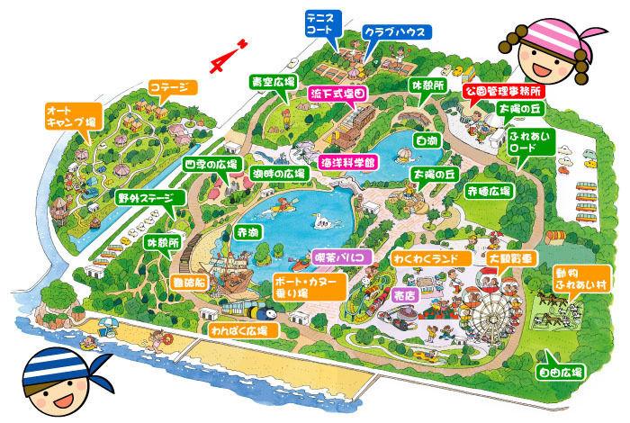 赤穗海浜公園の総合レジャー施設案内