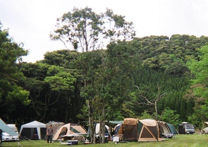 野々湯温泉 キャンプ場のオートサイト
