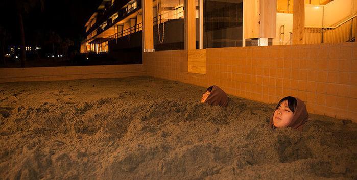 休暇村指宿キャンプ場の砂むし風呂