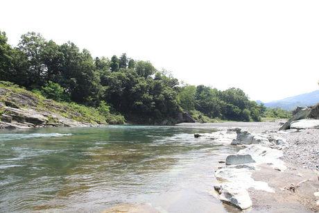フォレストサンズ長瀞のプライベート河川