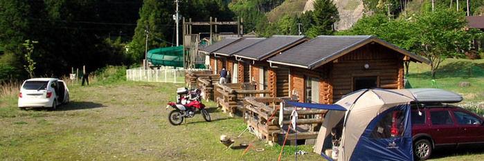 円満地公園オートキャンプ場のコテージ