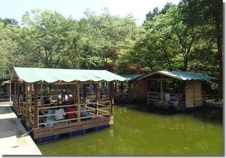 アウトドアベース犬山キャンプ場の水上バーベキュー