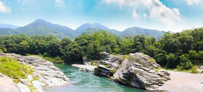フォレストサンズ長瀞を流れる川