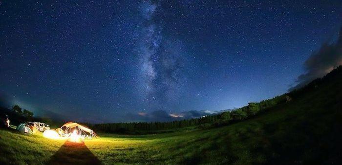 ボイボイキャンプ場 夜の風景
