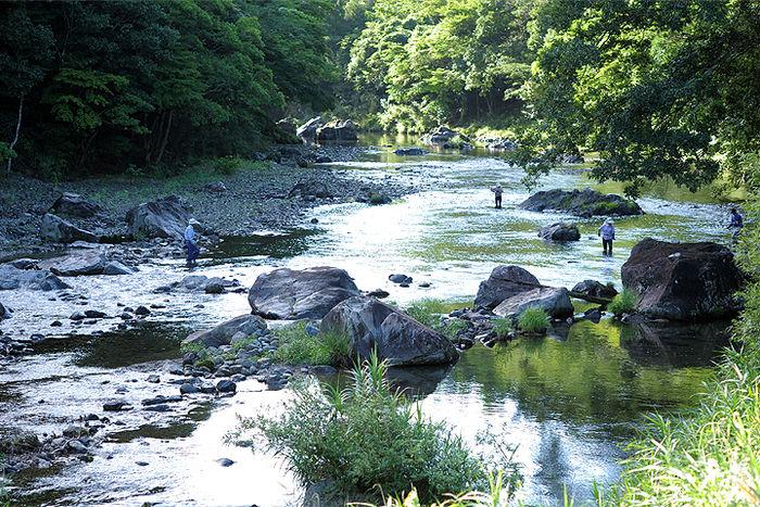 中岳キャンプ場近くの中岳川