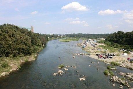 荒川の河川敷のかわせみ河原