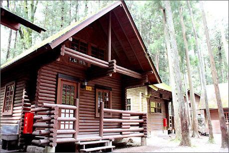 川井キャンプ場のログハウス