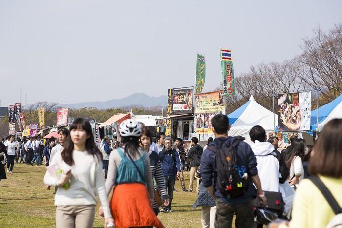 アウトドアフェスと同時開催のフードフェスティバル