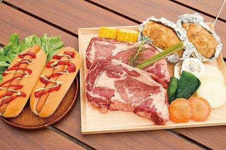 幕張海浜公園バーベキューガーデンのバーベキュー食材 1ポンドステーキセット