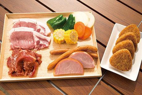 幕張海浜公園バーベキューガーデンのバーベキュー食材 レギュラーセット