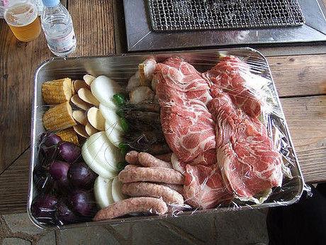 野菜とお肉たっぷりのバーベキュー食材