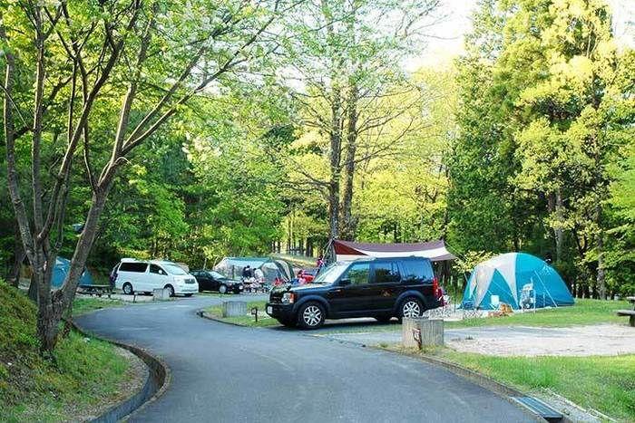 駒ヶ根高原アルプスの丘 家族旅行村でのキャンプの様子
