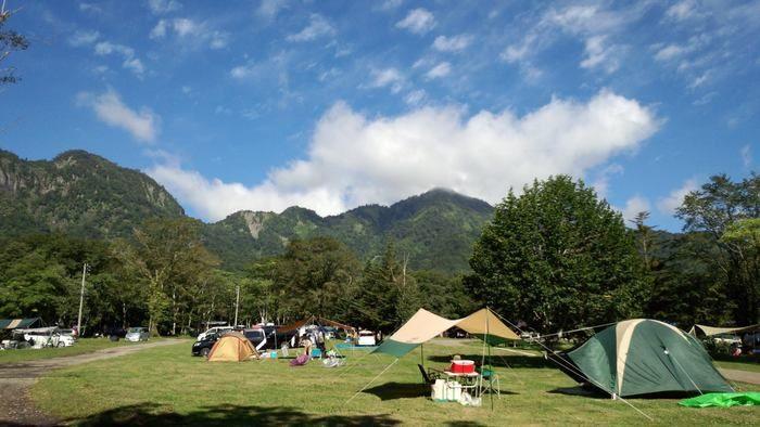 戸隠キャンプ場のキャンプの様子