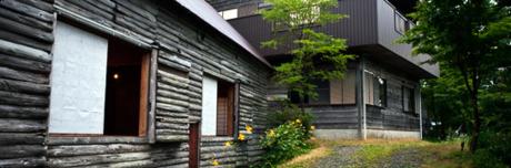 四国山岳植物園岳人の森キャンプ場の山荘