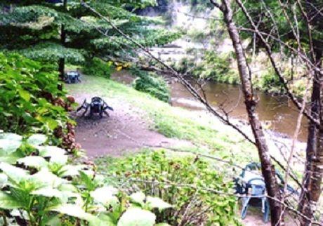 柿山田オートキャンプガーデンの河川敷