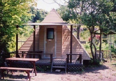 柿山田オートキャンプガーデンのトレーラーハウス