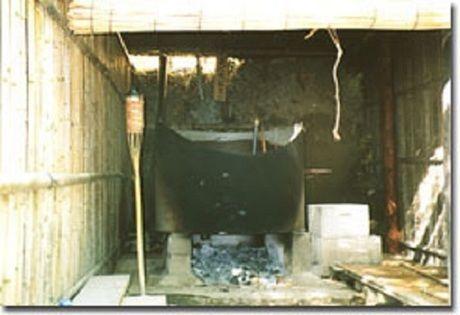 柿山田オートキャンプガーデンの五右衛門風呂