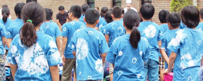 旅する上野村で地域伝統の文化体験をする子ども達