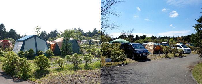富士山こどもの国のキャンプサイト