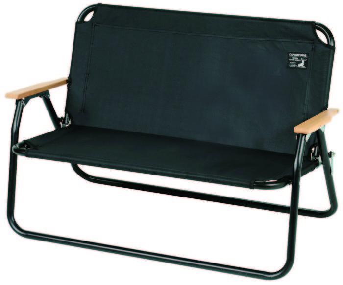 CS ブラックラベルのアルミ背付きベンチ