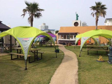 ソルマーレバーベキューガーデンに設置されているテント