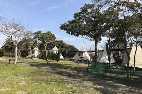 九十九里浜シーサイドオートキャンプ場のテントサイト